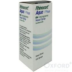 Rhinocort (Budesonide) Aqua Nasal Spray 120 Doses 10ml
