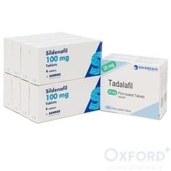 Sildenafil Sandoz 100mg 32 + Tadalafil 20mg 8 tab combo pack