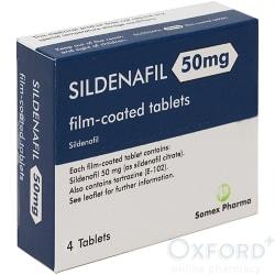 Sildenafil 50mg 4 Tablets