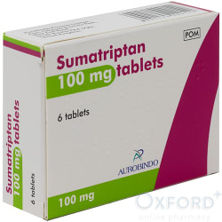 Sumatriptan 100mg 6 Tablets
