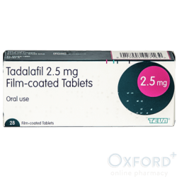 Tadalafil 2.5mg (Generic Cialis) 6 x 28 Tablets