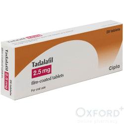 Tadalafil (Generic Cialis) 2.5mg 28 Tablets