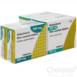 Valaciclovir 500mg Outbreak & Prevention Pack 1x20, 2x42
