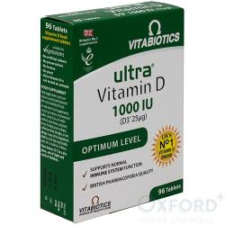 Ultra Vitamin D D3 1000iu Optimum Level 96 Tablets