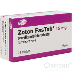 Zoton (Lansoprazole) Fastab 15mg Oro-Dispersible 28 Tablets