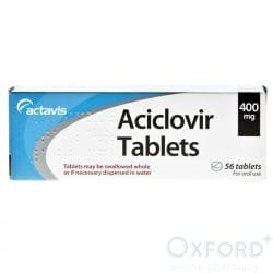 Aciclovir Dispersible 400mg For Cold Sores Prevention 168 Tablets