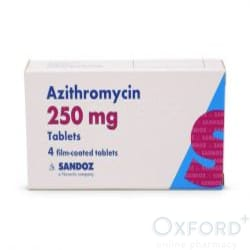 Azithromycin 250mg for Ureaplasma and Mycoplasma 6 capsules