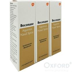 Beconase Aq Nasal Spray Beclometasone 200 doses Triple Pack