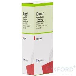 Duac Daily (Clindamycin + Benzoyl Peroxide) 10mg/g + 30mg/g Gel 60g