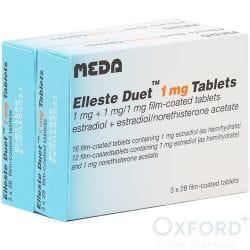 Elleste Duet (Estradiol/Norethisterone) 1mg Tablets 168
