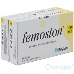 Femoston (Estradiol/Dydrogesterone) 1/10mg 168 Tablets