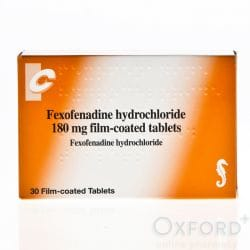 Fexofenadine 180mg 30 Tablets