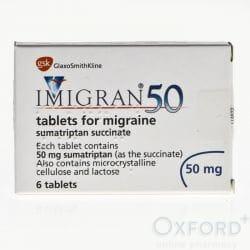 Imigran (Sumatriptan) 50mg 6 Tablets