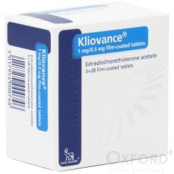 Kliovance (Estradiol 1mg / Norethisterone 0.5mg) 84 Continuous Tablets