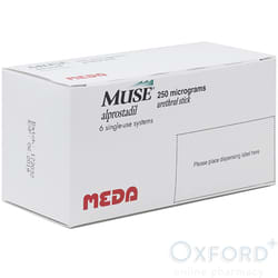 Muse (Alprostadil) 250mcg 6 Pellets