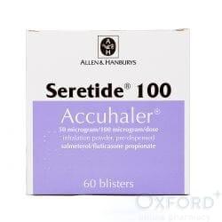 Seretide Accuhaler (Fluticasone + Salmeterol) 100mcg 60 Dose's
