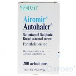 Airomir Autohaler (Salbutamol) 100mcg 200 Dose's