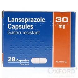 Lansoprazole 30mg Gastro-Resistant 28 Capsules