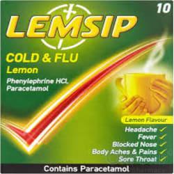 Lemsip Cold & Flu Lemon Sachets 10's