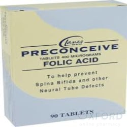Preconceive Folic Acid 400mcg 90 Tablets