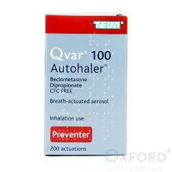 Qvar Autohaler (Beclometasone Dipropionate) 100mcg