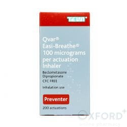 Qvar Easi-Breathe Inhaler (Beclometasone) 100mcg 200 Dose's