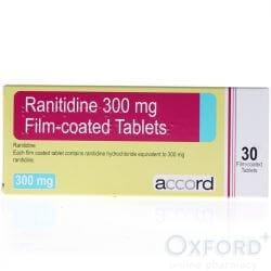 Ranitidine 300mg Film-Coated 30 Tablets