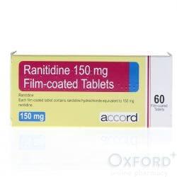 Ranitidine 150mg Film-Coated 60 Tablets