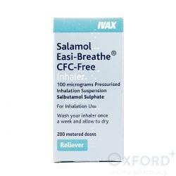 Salamol Easi-Breathe Inhaler (Salbutamol Sulphate) 100mcg 200 Dose's