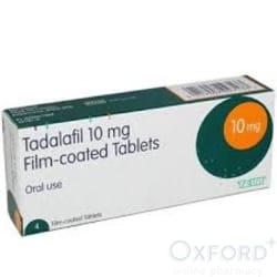 Tadalafil (Generic Cialis)10mg 4 Tablets