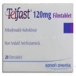Telfast 120mg 30 Tablets