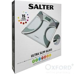 Salter Ultra Slim Glass Analyser Scales White
