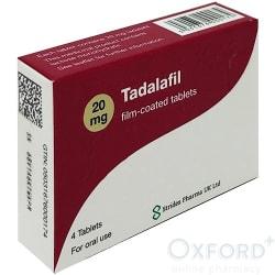 Tadalafil (Generic Cialis) 20mg 4 tablets