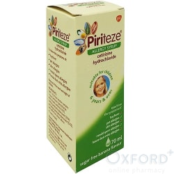 PIRITEZE allergy syrup once-a-day 1mg/ml 70ml