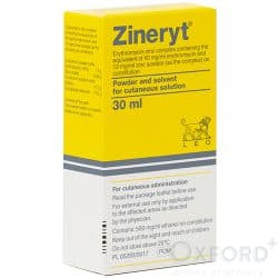 Zineryt (Erythromycin + Zinc Acetate) 40mg + 12mg Solution 30ml