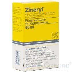 Zineryt (Erythromycin + Zinc Acetate) 40mg + 12mg 90ml Solution