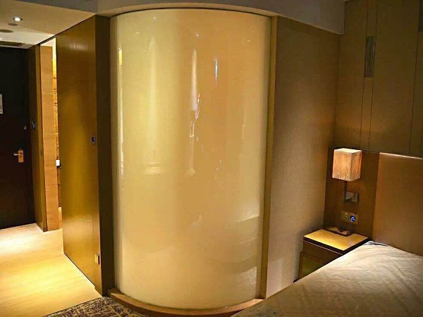 Smart glass hotel barthroom-off