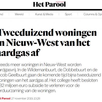 Samenwerking Amsterdam Aardgasvrij smaakt naar meer