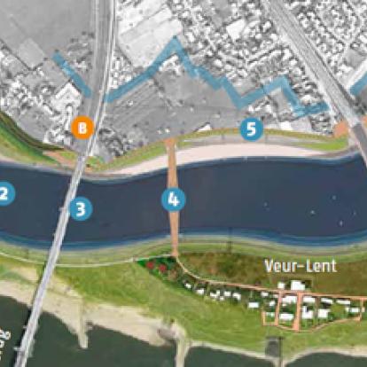 Ruimte voor de Waal Nijmegen: dijkteruglegging Lent