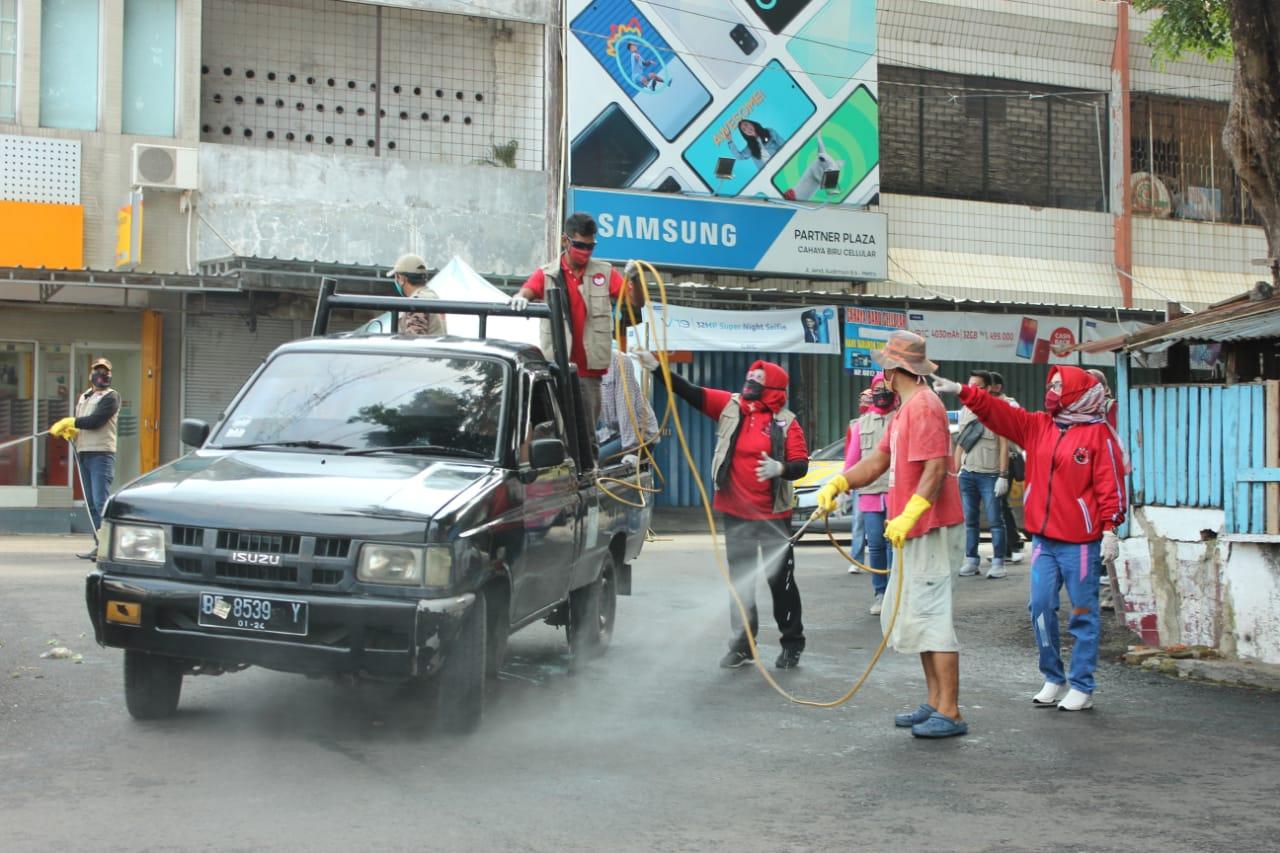 Baguna PDI-P Metro Sterilisasi Pasar dan Jalan