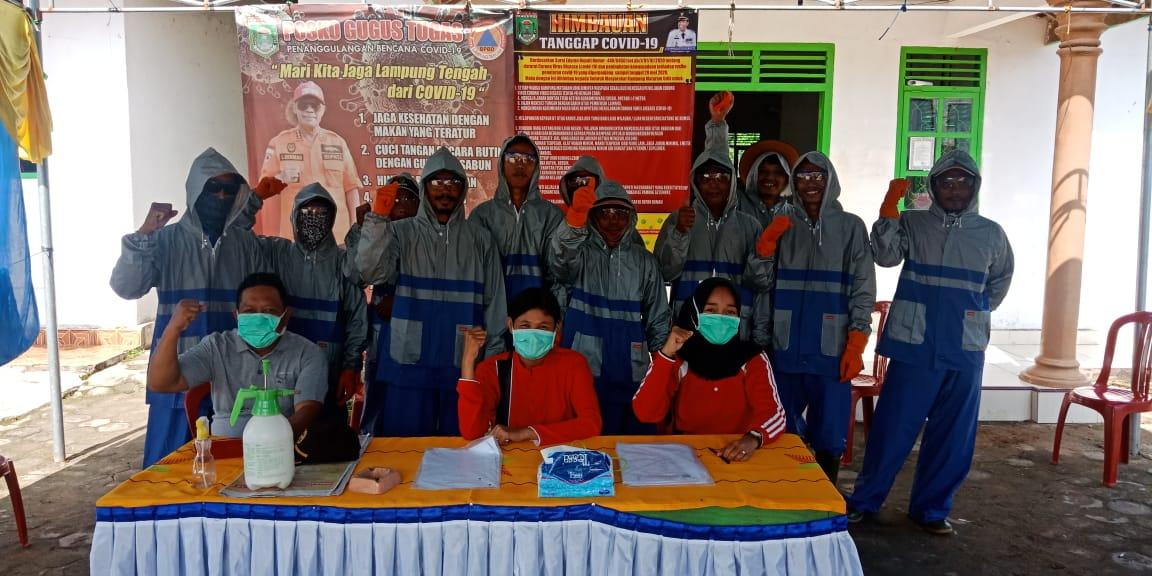 Tangkal Penyebaran Virus Corona Kampung Mataram Udik Semprot Cairan Disinfektan