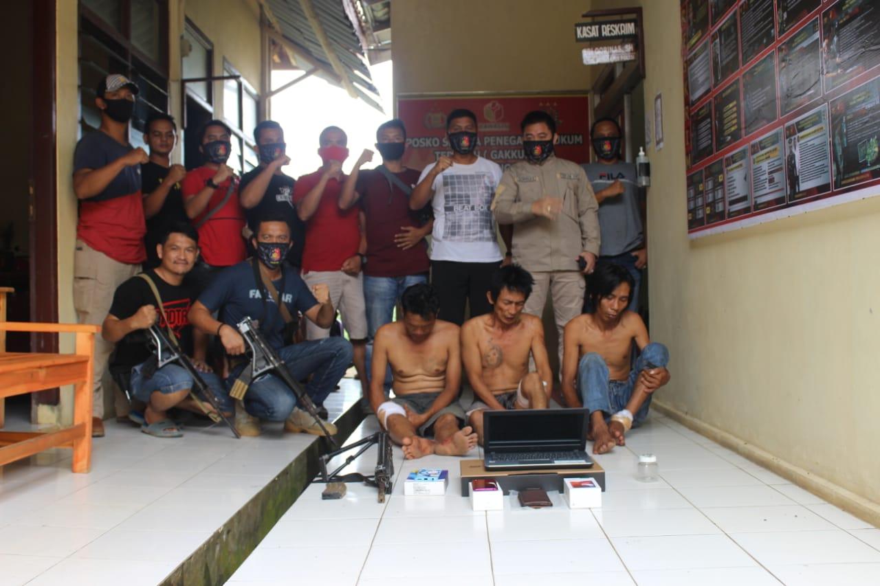 Tim Gabungan Polres Tanggamus Tangkap Tiga Perampok Bermodal Senjata Laras Panjang Replika