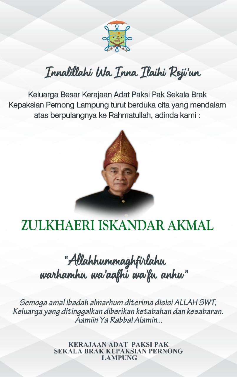 Doa Pun Edward Untuk Zulkhaeri Iskandar Akmal