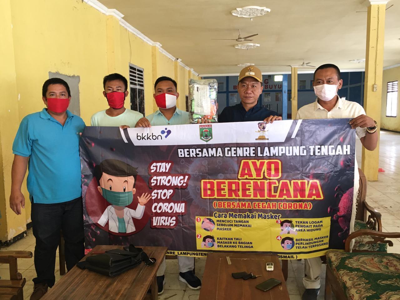 Genre Lamteng Berikan Bantuan Masker Ke Kampung Buyut Udik