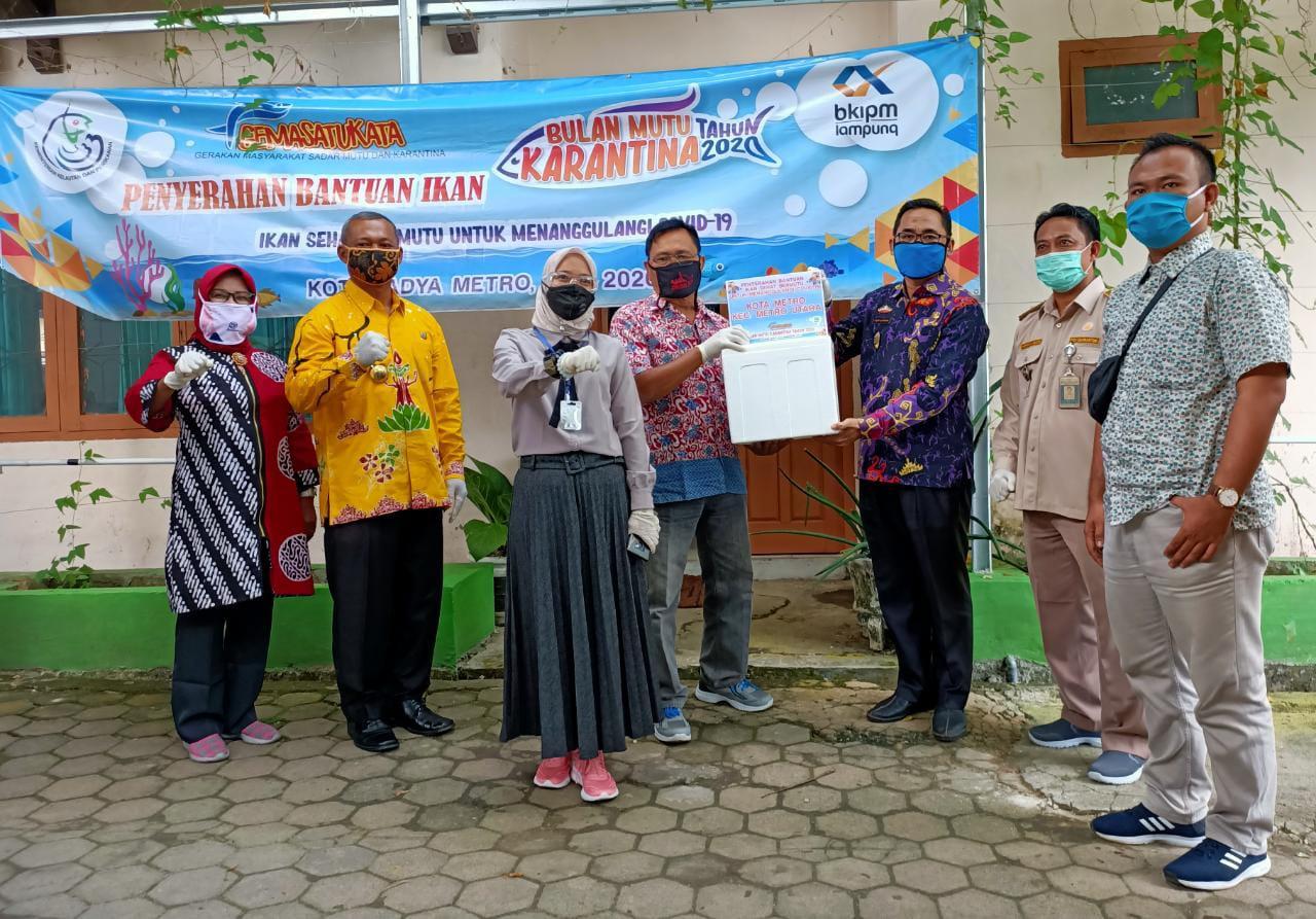 600 Paket Ikan Diberikan BKIPM Lampung Ke Pemkot Metro