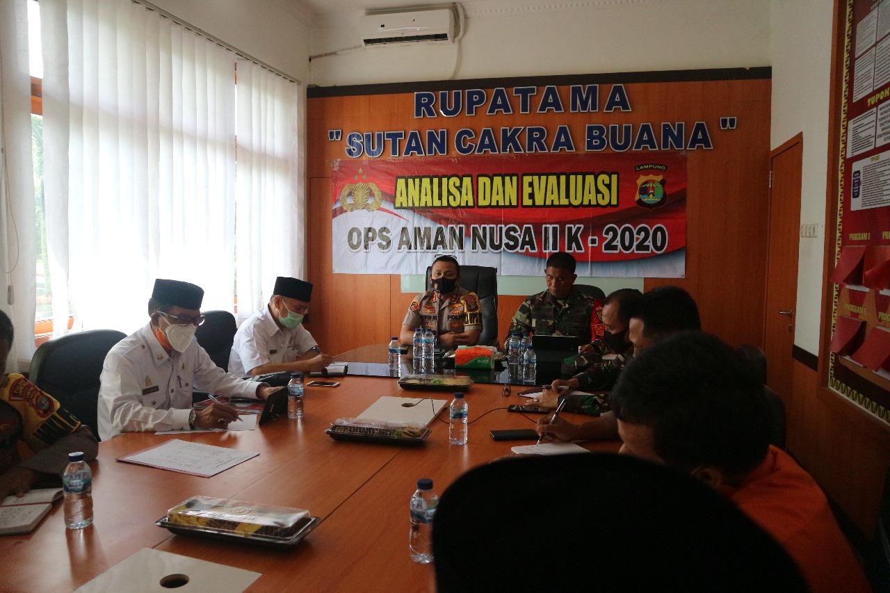 Kapolres Bersama Dandim 0412 Rapat Bersama Satgas Aman Nusa II Covid-19