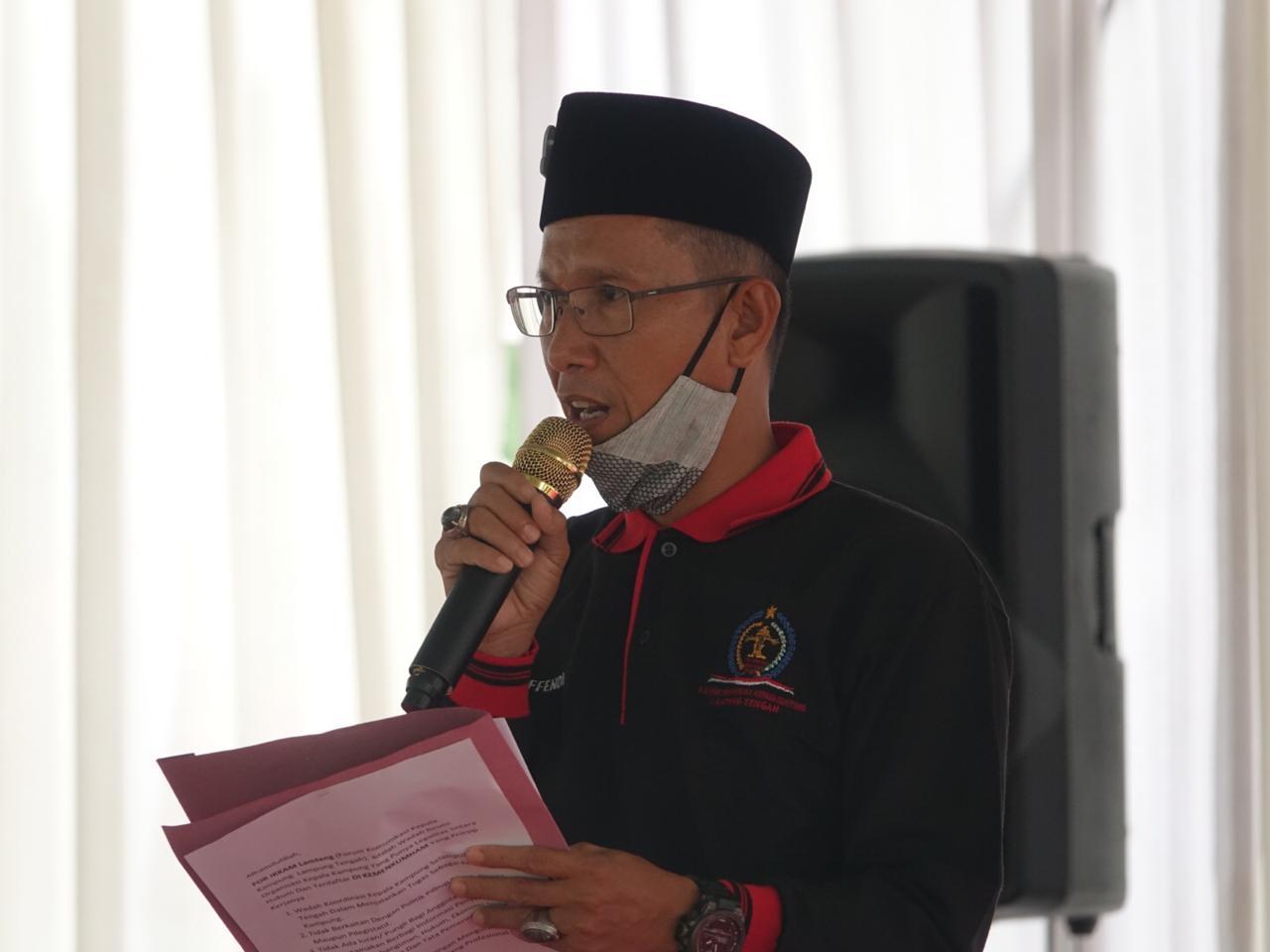 Bupati Lamteng Lantik Jahri Efendi Ketua Forikkam