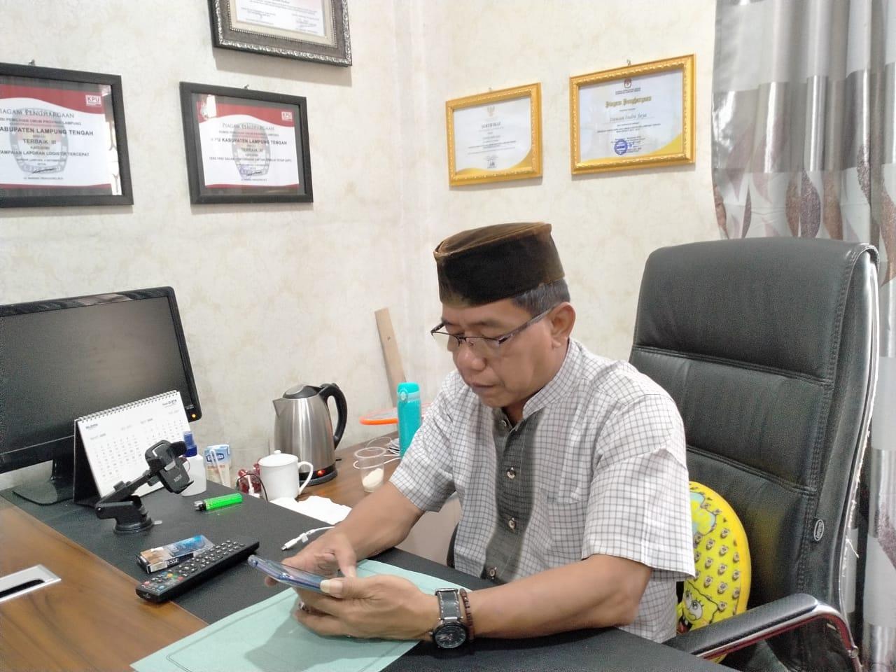 Ketua KPU Lamteng'Sebut Keabsahan Ijazasah Balon Bup Musa Ahmad Sah Sesuai Dengan PKPU dan UUD Yang Berlaku
