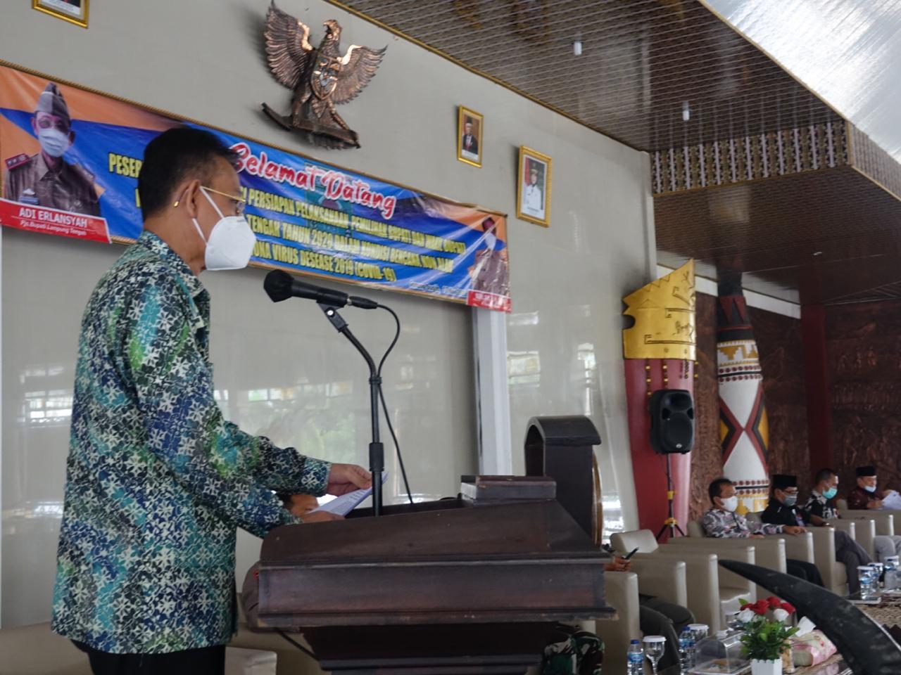 Pj Bupati Lamteng Pimpin Rapat Terkait Pilkada Serentak