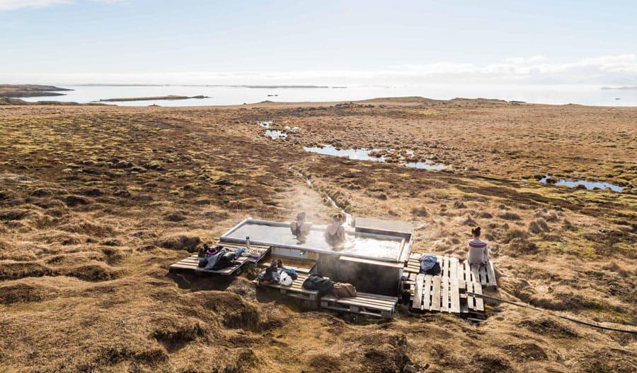 3-ladies-in-hot-springs-in-iceland-summer